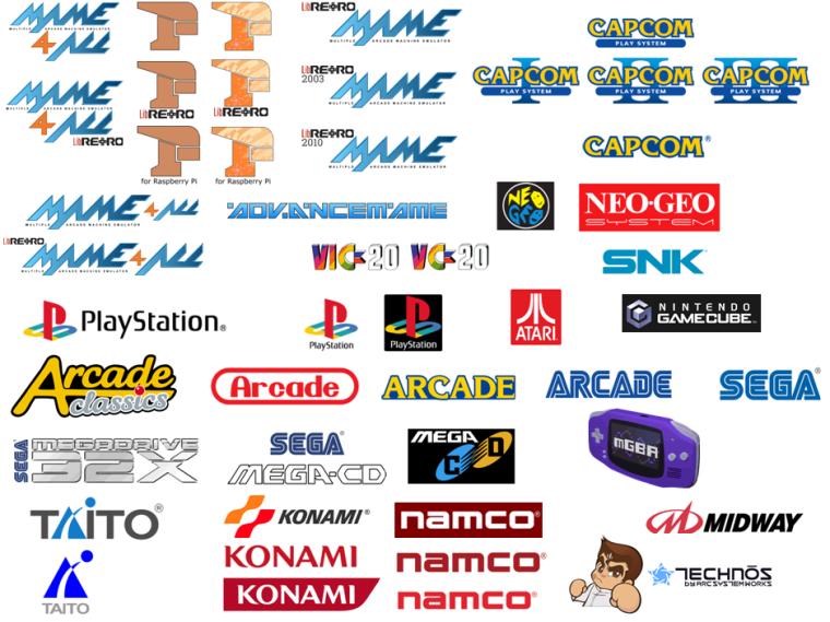 retropie svg custom logos