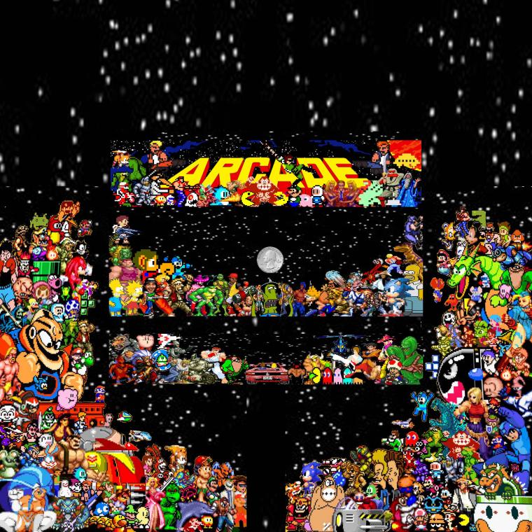 Pixel Art Themed Bartop Arcade - RetroPie Forum