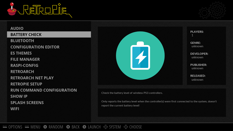 Wireless Battery Indicator (PS3) - RetroPie Forum