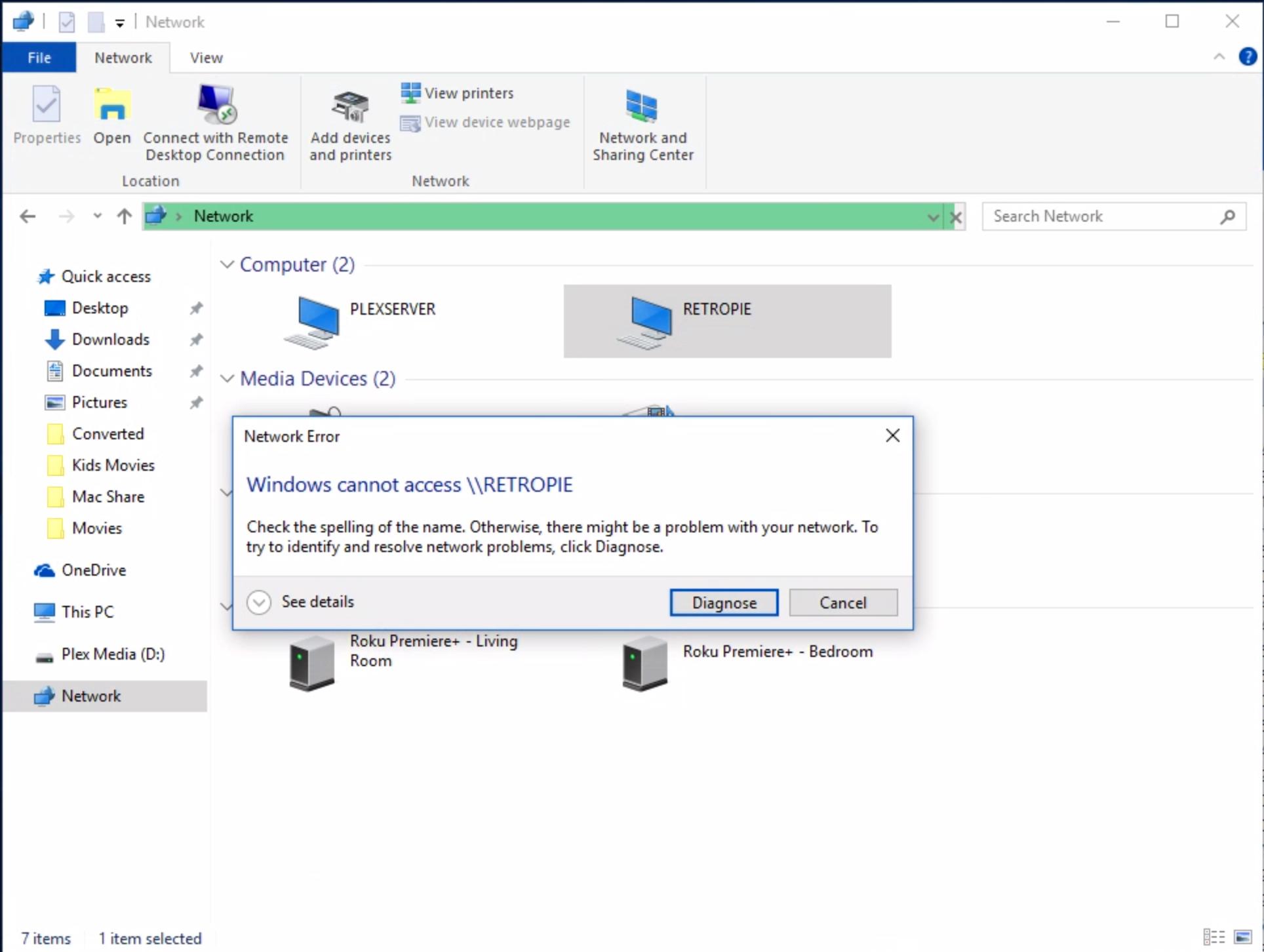 Unable to Connect to Retropie from Windows 10 - RetroPie Forum