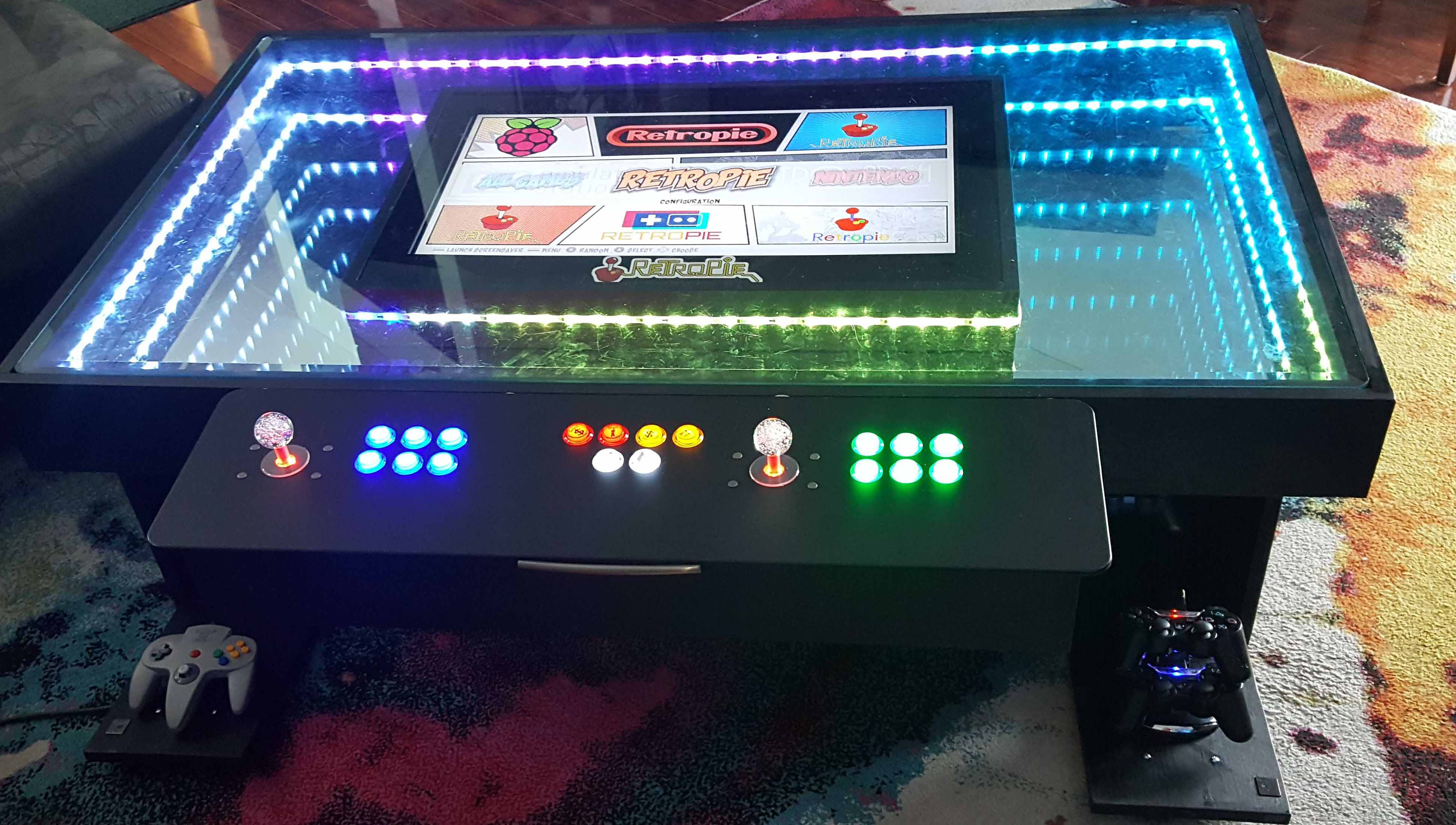 Arcade Coffee Table.Fun 1st Time Retropie Build Coffee Table Retropie Forum