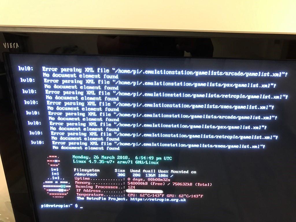 Error parsing XML file - RetroPie Forum