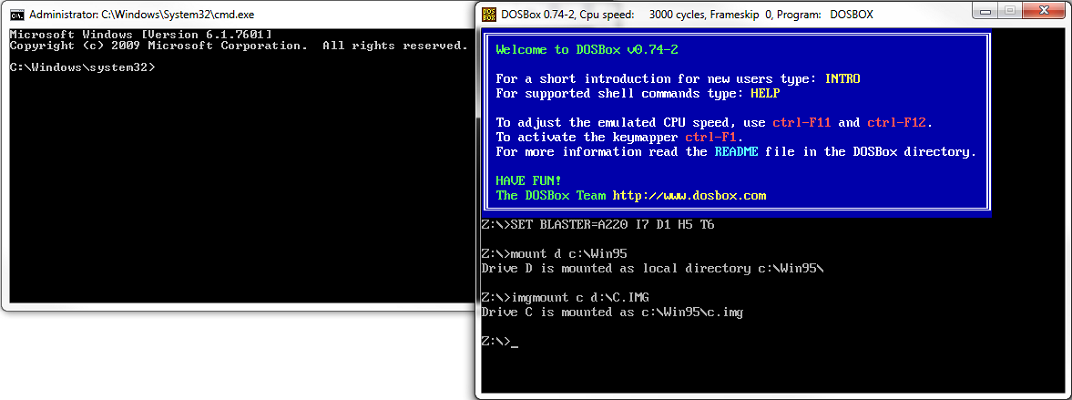 windows 95 boot disk commands