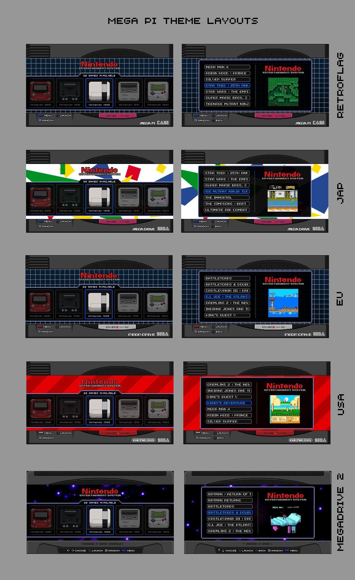 RELEASE] Mega-PI Theme - RetroPie Forum