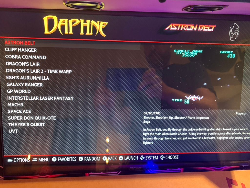 Emulationstation not showing the correct Daphne ROM folder
