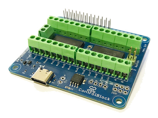 ControlBlock with USB-C and dedicated power switch IC